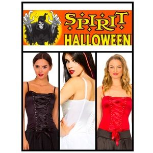 White Lace-Up Corset - Halloween Costume